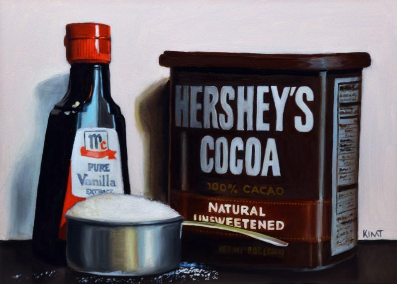 """Hershey's Chocolate Recipe Basics"" original fine art by Kim Testone"