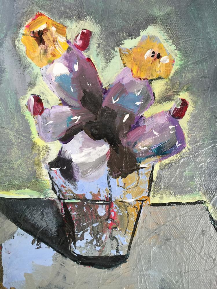 """Potted Cactus"" original fine art by Jenny Doh"