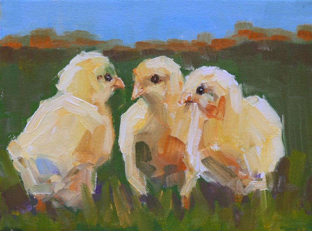 """chick fi.....what?!!"" original fine art by Carol Carmichael"