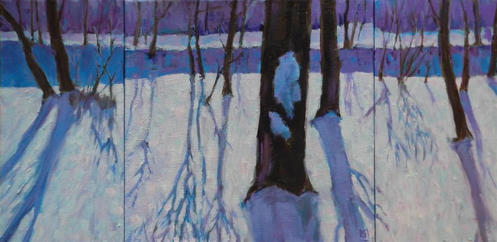 """Winter Blues, 12x24 Inch Acrylic Painting by Kelley MacDonald"" original fine art by Kelley MacDonald"