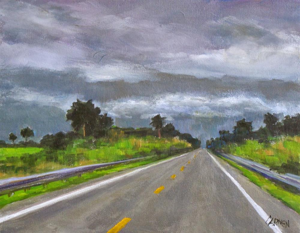 """Highway 70, 10x8 Oil on Canvas"" original fine art by Carmen Beecher"