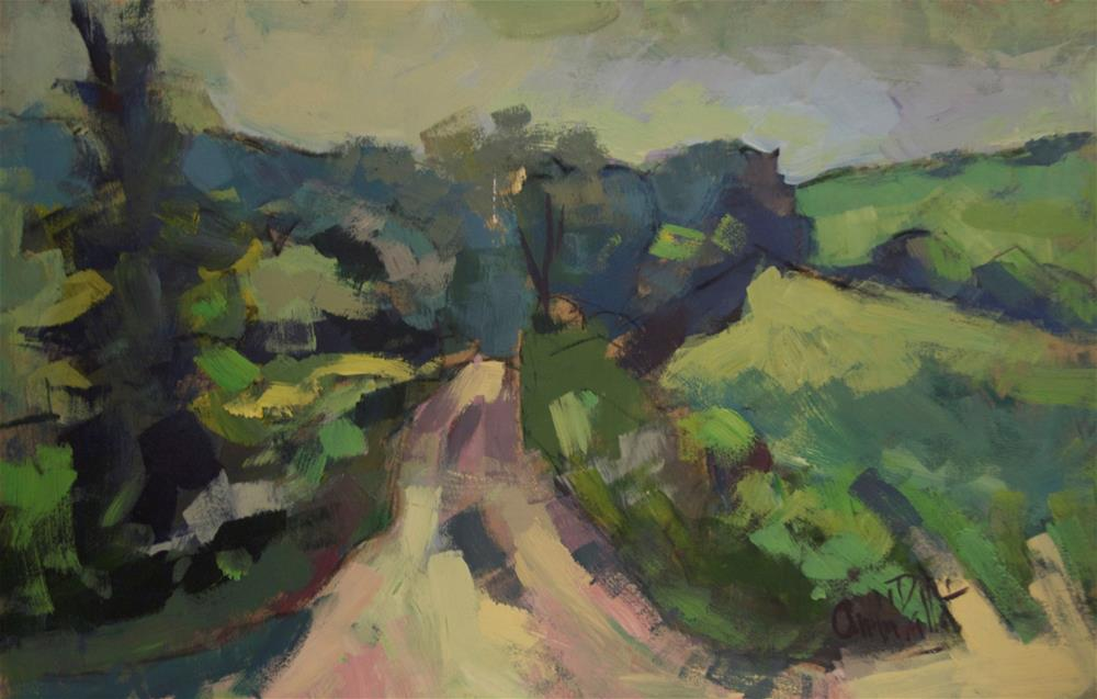 """Lane at Storrington"" original fine art by Andre Pallat"