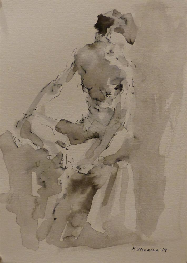 """nude4"" original fine art by Katya Minkina"