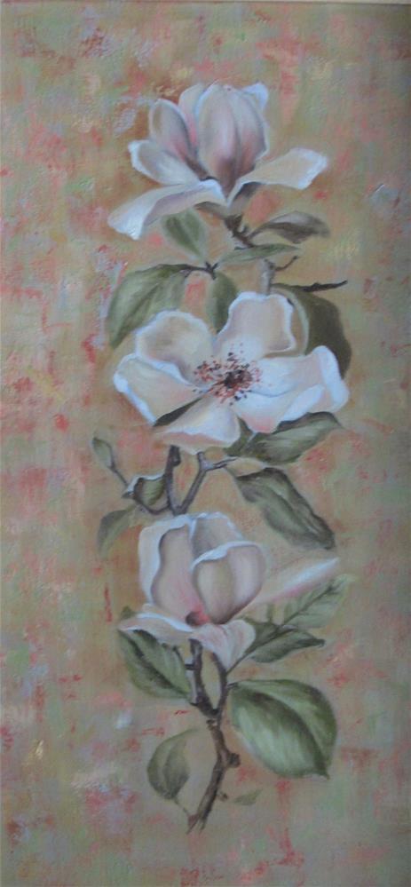 """""""Magnolia Cascade"""" original fine art by Barbara Wagner"""