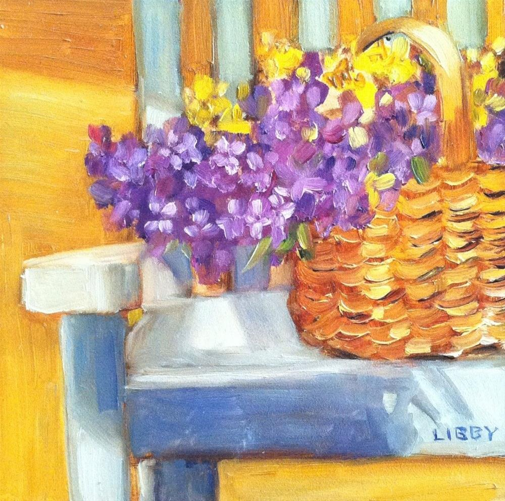 """White Chair"" original fine art by Libby Anderson"