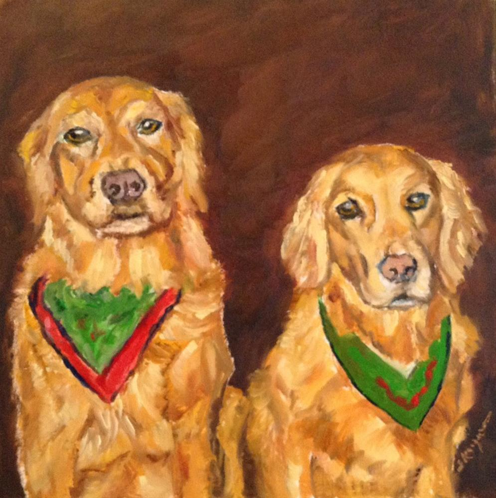 """Callie and Gabby"" original fine art by Shelley Koopmann"