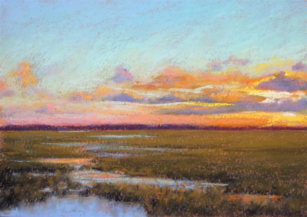 """Salt Marsh at Sunset"" original fine art by Sharon Lewis"