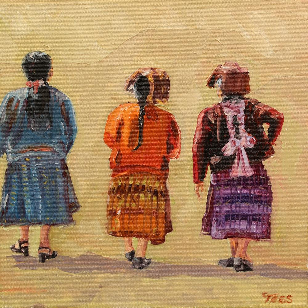 """Tres Mujeres"" original fine art by Tess Lehman"