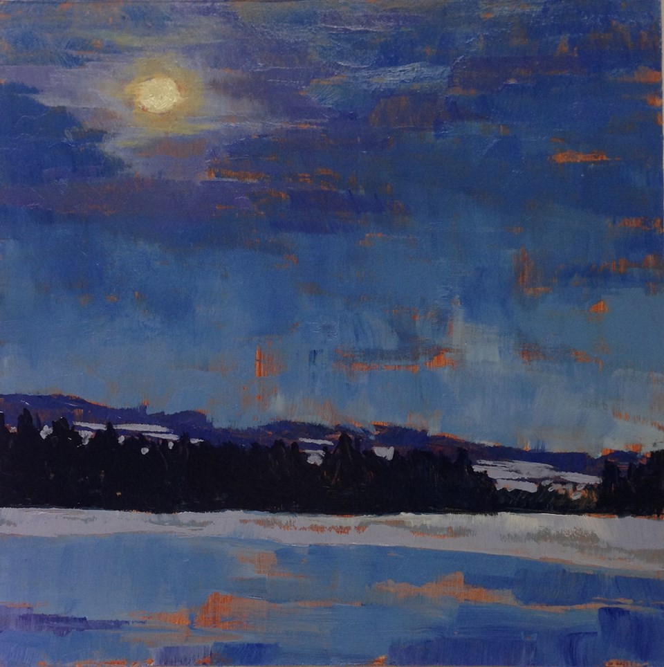 """By the Light of the Moon"" original fine art by Eileen Hennemann"