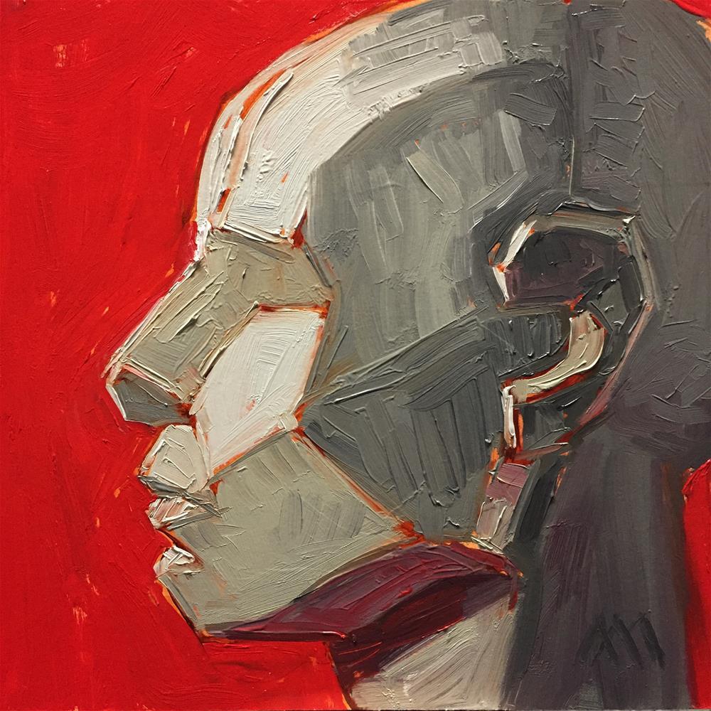 """Asaro Head Study 2"" original fine art by Austin Maloney"