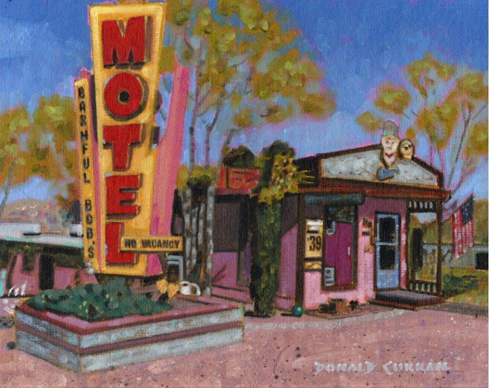 """Arizona Hotel"" original fine art by Donald Curran"