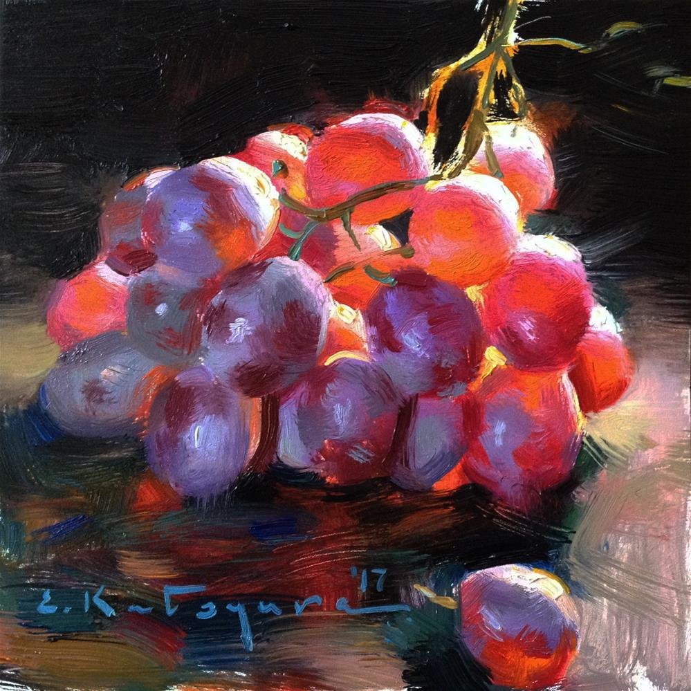 """Red Globe Grapes"" original fine art by Elena Katsyura"