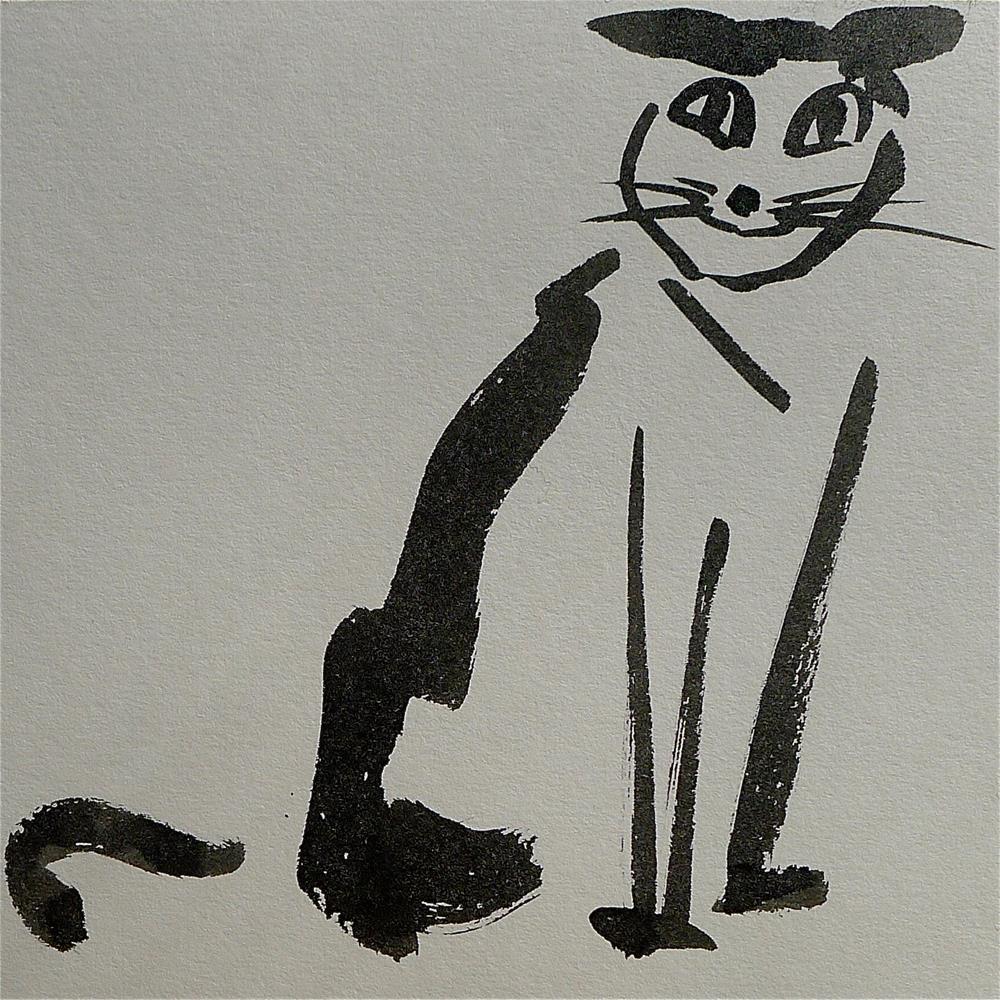 """""""Happy cat"""" original fine art by Ulrike Schmidt"""