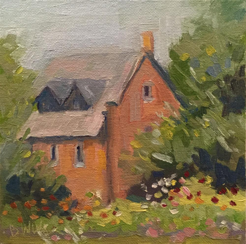 """Garden View"" original fine art by Barb Walker"