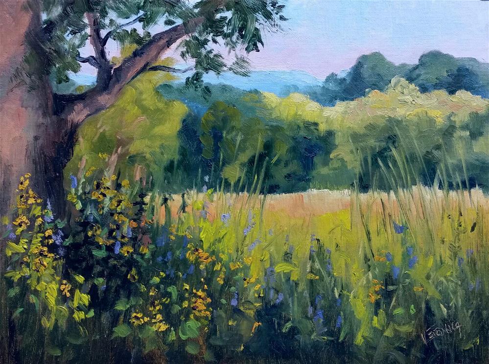 """""""Shaw Prairie-en plein air"""" original fine art by Veronica Brown"""