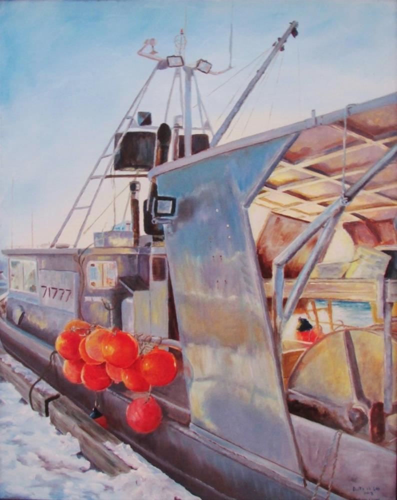 """Sea Hawk"" original fine art by Christine Lewis"