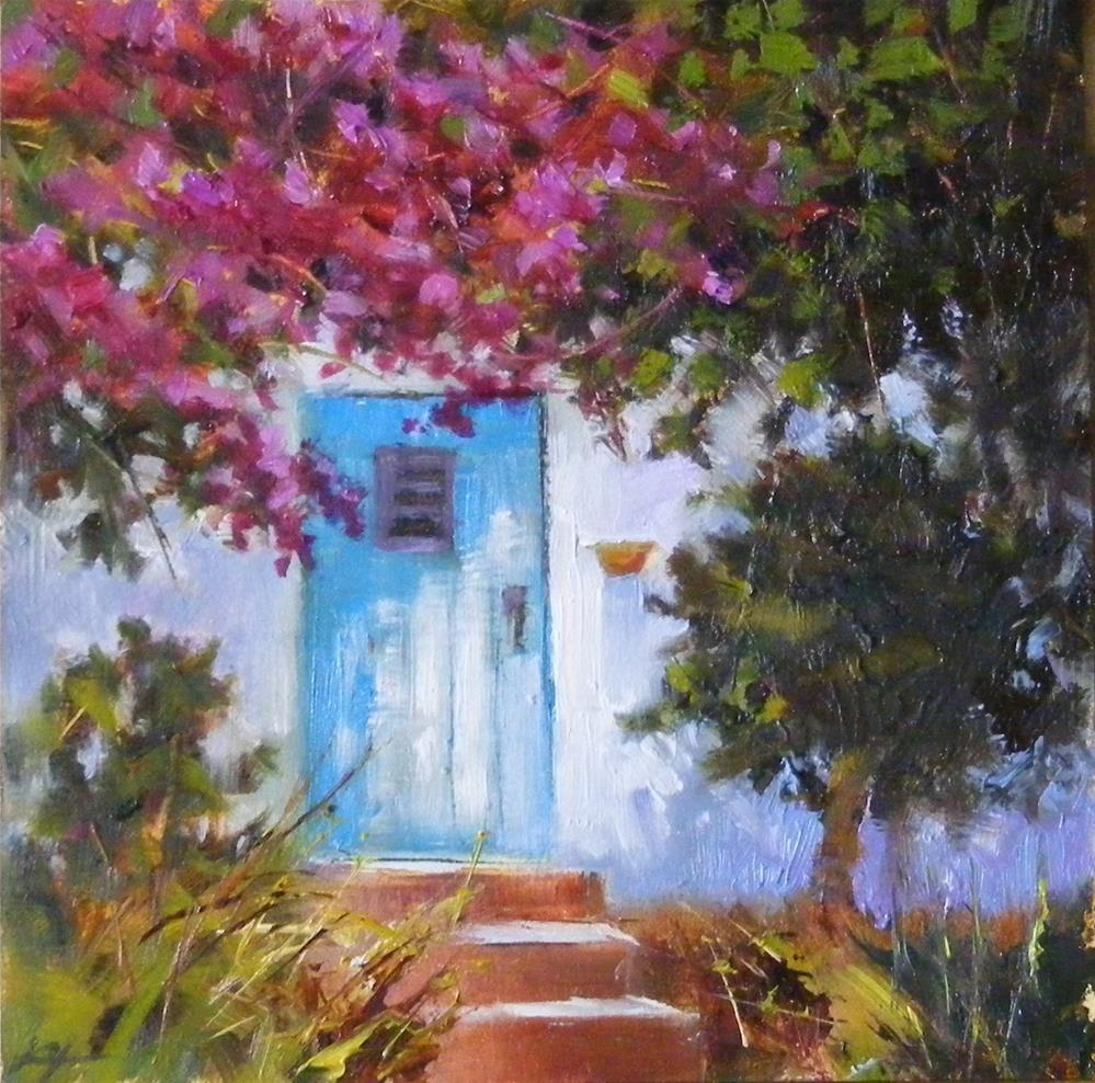 """Blue Door"" original fine art by Celine K.  Yong"