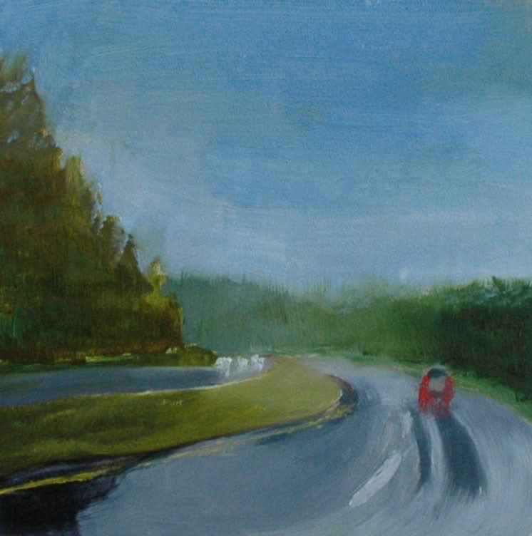 """HIGHWAY TO ASHEVILLE"" original fine art by Linda Popple"