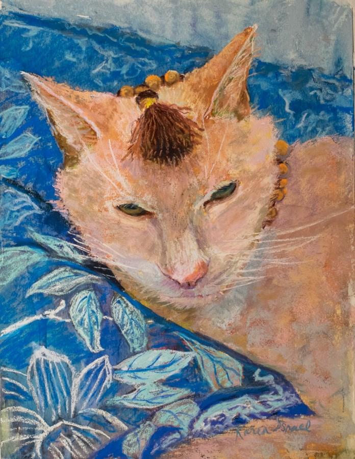 """Mala Beads"" original fine art by karen israel"