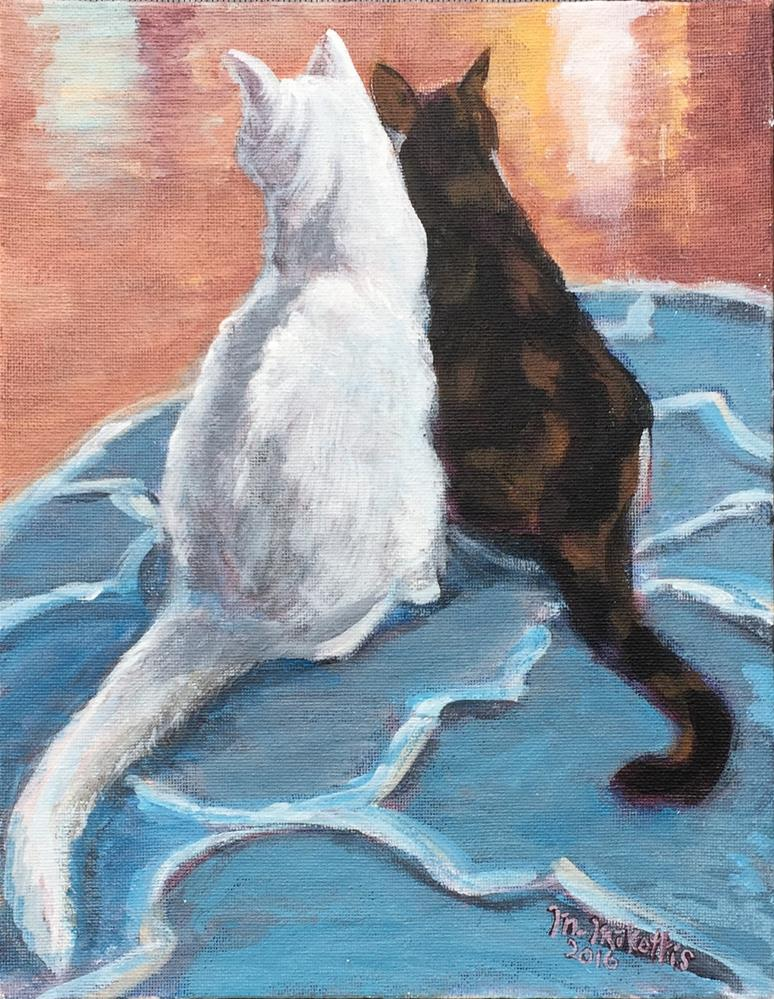 """Kitty's Kitties"" original fine art by Michael Mikottis"