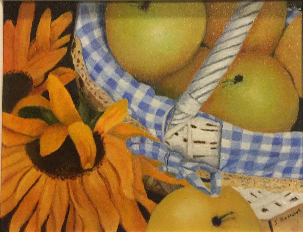 """""""Apples in Basket"""" original fine art by Jeanne Bossart"""
