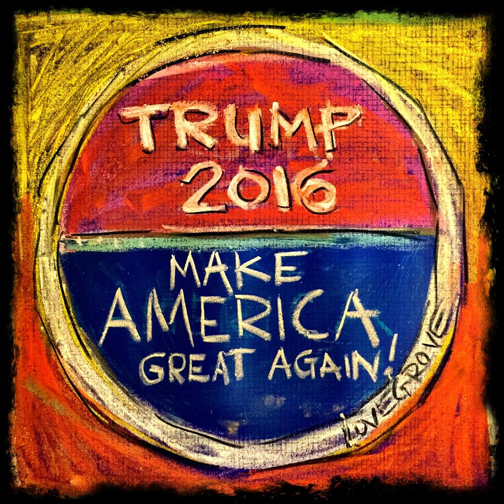 """Chalking Trump"" original fine art by Leoma Lovegrove"
