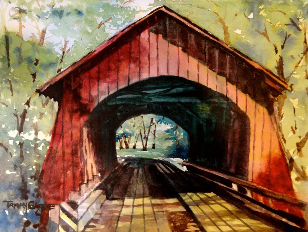 """Yachats Covered Bridge"" original fine art by Tammy Gagne"