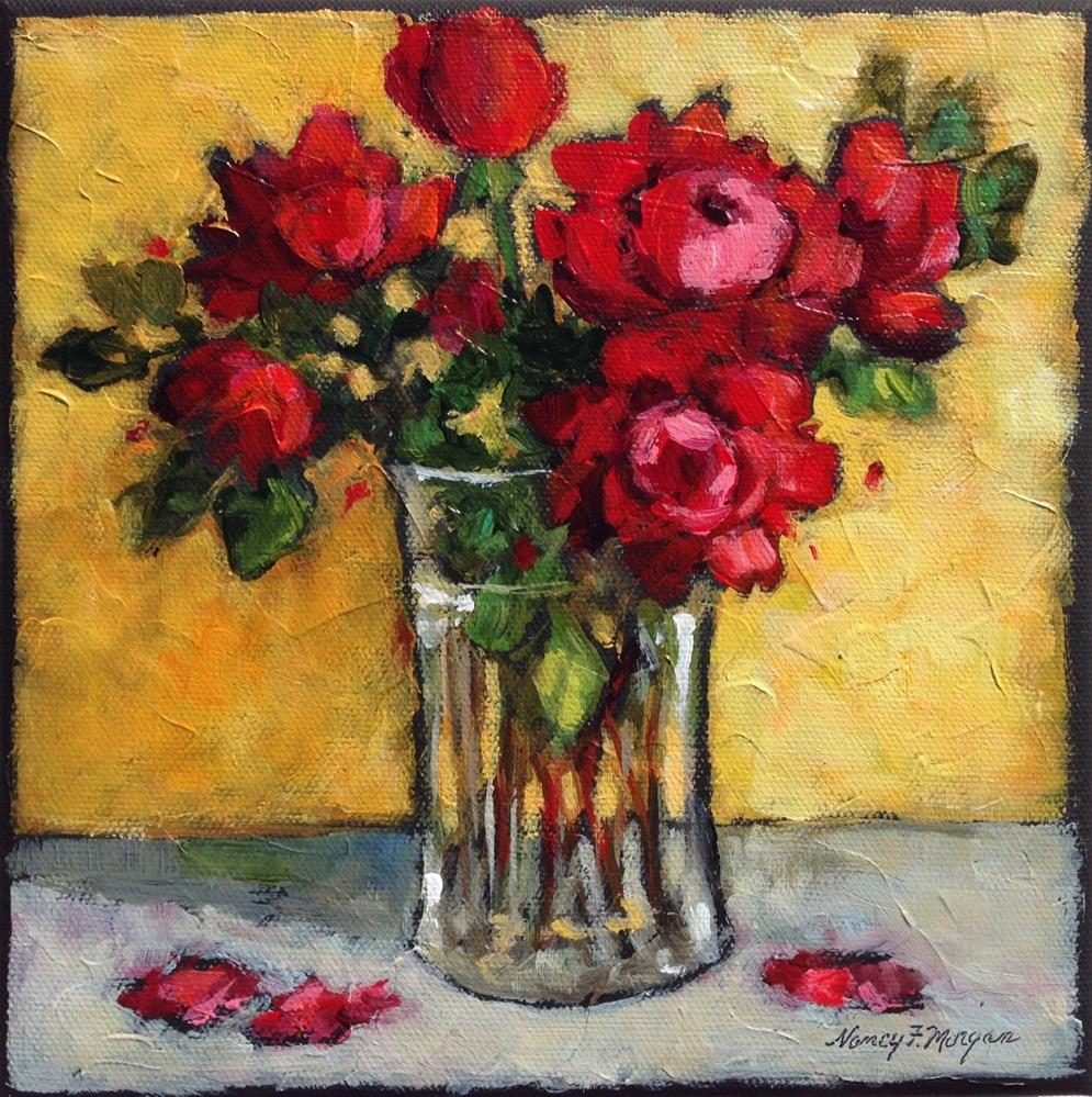 """October Roses"" original fine art by Nancy F. Morgan"