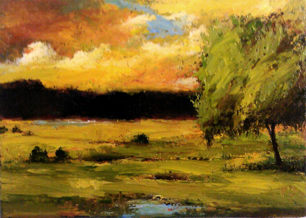 """Soggy Park"" original fine art by Bob Kimball"