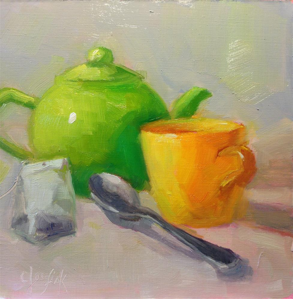 """Tea Time"" original fine art by Carol Josefiak"