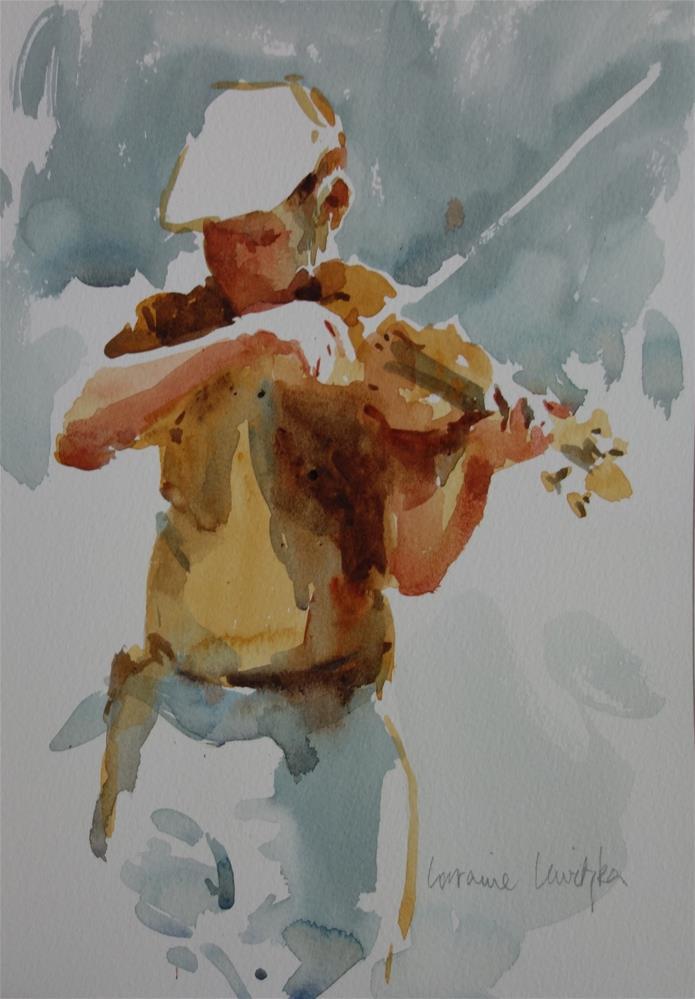 """Fiddle Player Impression"" original fine art by Lorraine Lewitzka"