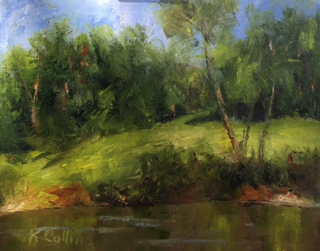 """Sunny Patch of Green"" original fine art by Kathy Collins"