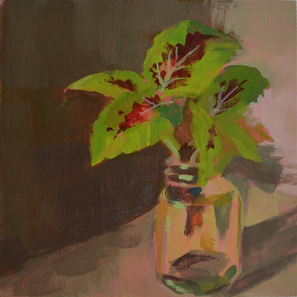 """Coleus Clipping"" original fine art by Cindy McDonough"