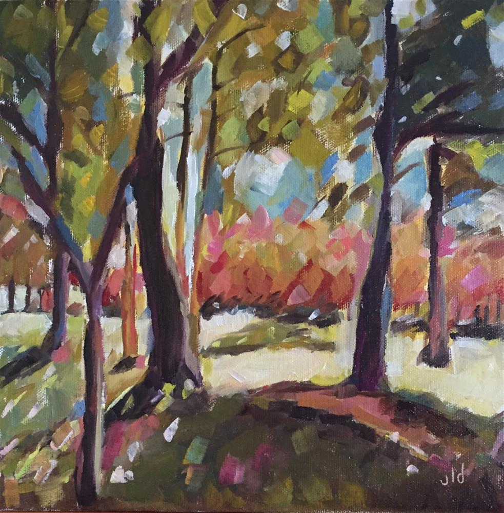 """Through the trees"" original fine art by Jean Delaney"