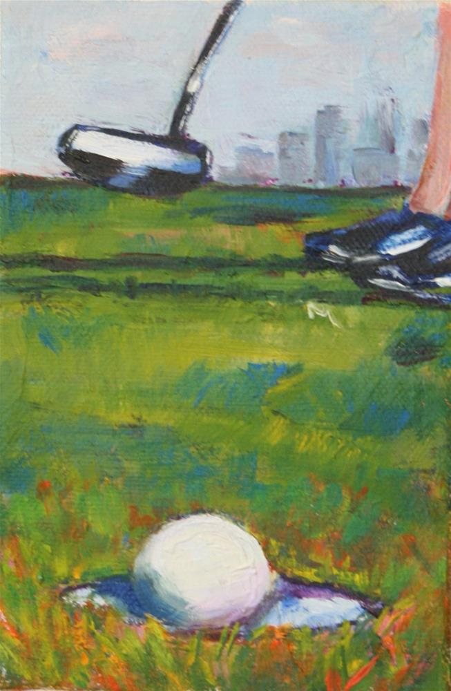 """Ladies Putt"" original fine art by Karen Gehse"