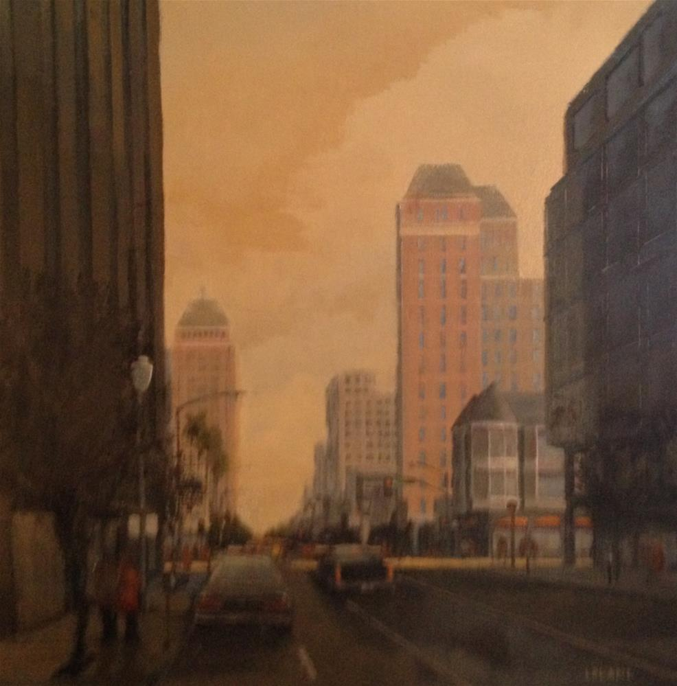 """Heading Up J Street"" original fine art by Jim Leland"