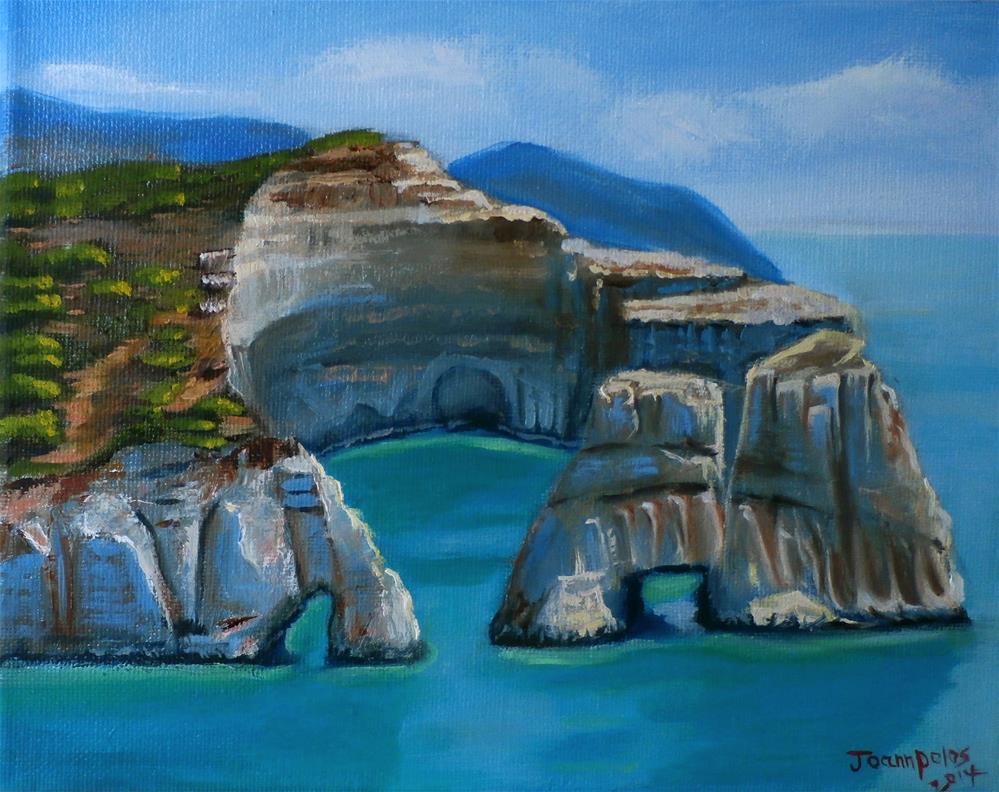 """Mylos Island"" original fine art by Joann Polos"