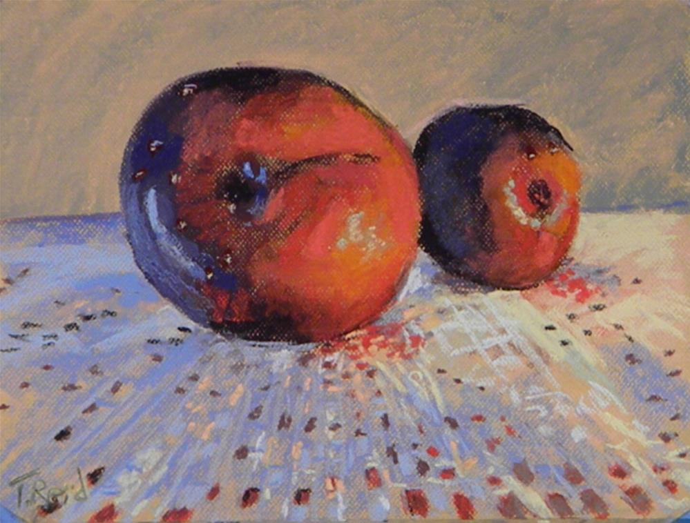 """Two plums"" original fine art by Toby Reid"