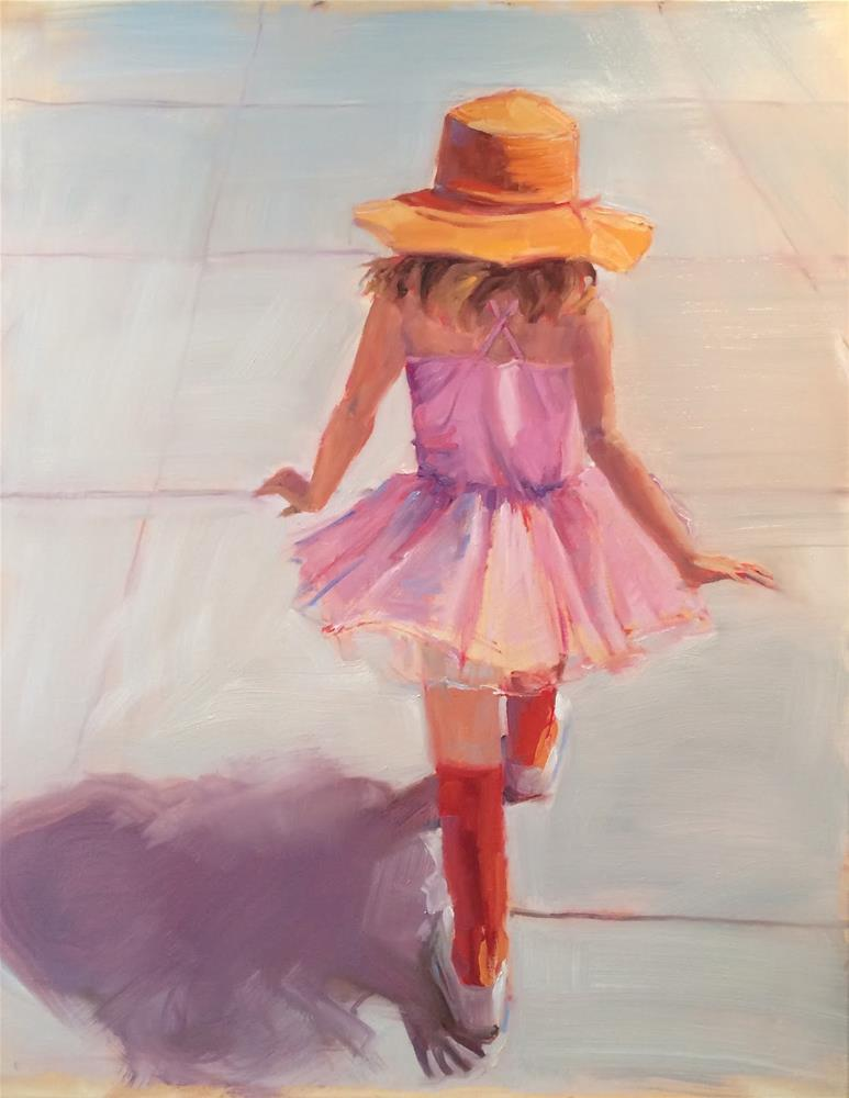 """Orange Hat"" original fine art by Deborah Newman"