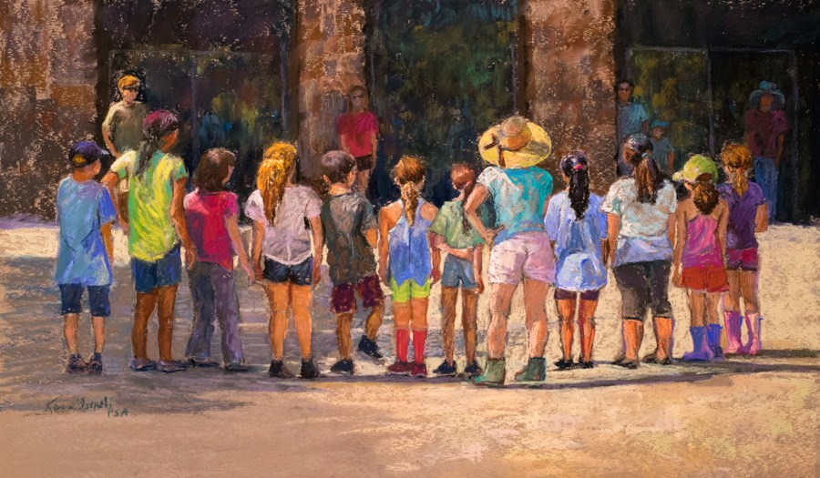 """Proscenium Arch"" original fine art by karen israel"