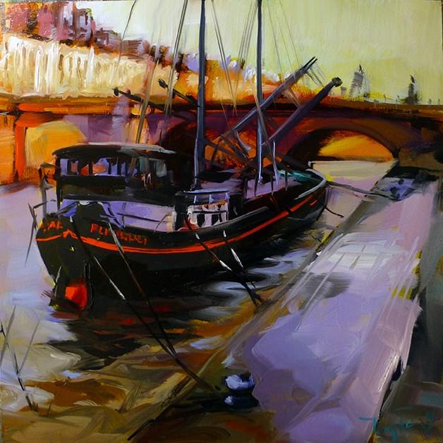 """""""Die Seine"""" original fine art by Jurij Frey"""