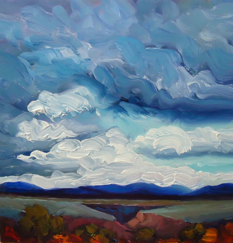 """133 SUMMER AT THE GORGE"" original fine art by Dee Sanchez"