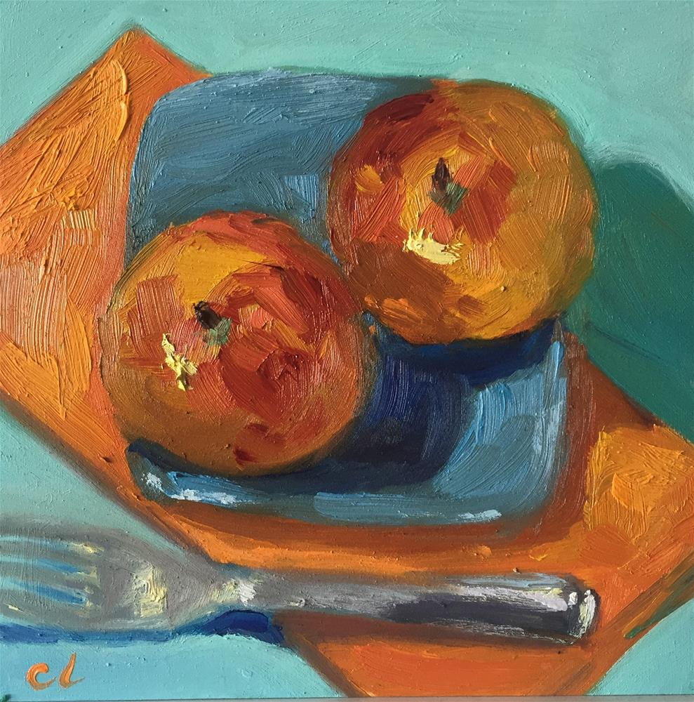 """Peaches"" original fine art by Cheree Apalona Lueck"