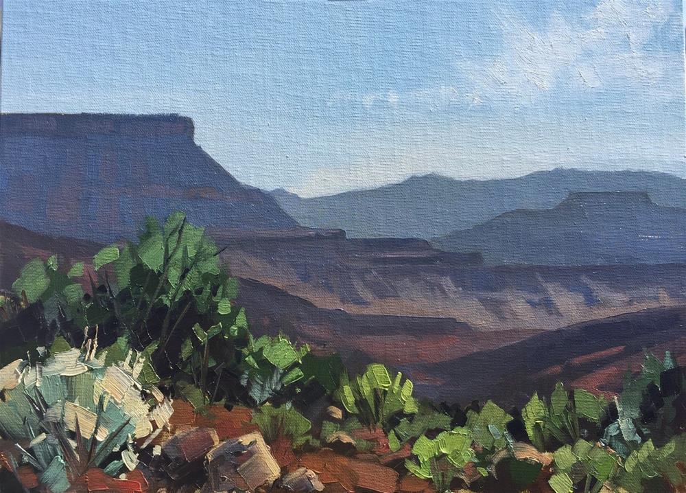"""Morning Light at Silver Reef, UT"" original fine art by Mary Jabens"