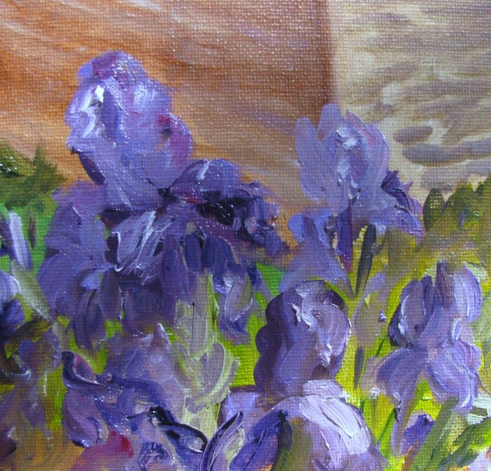 """Belle Meade Iris en plein air"" original fine art by Susan Elizabeth Jones"