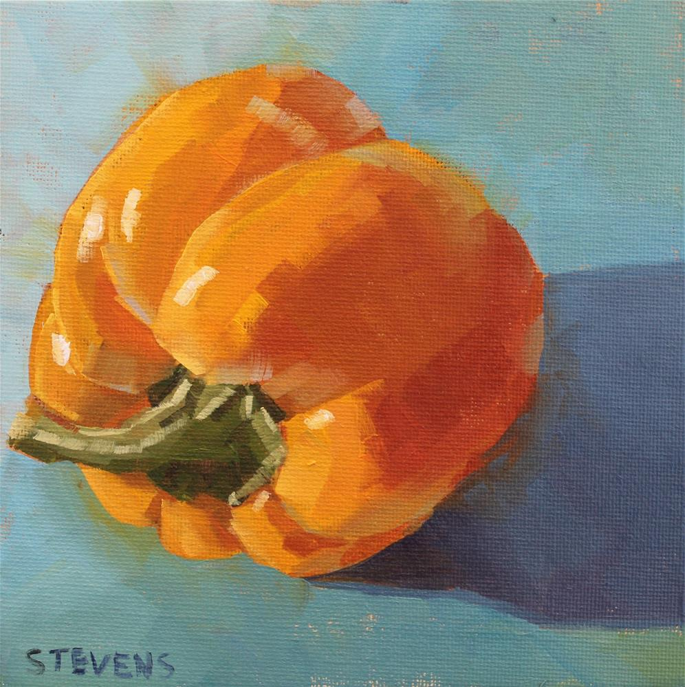 """Bell Pepper 2"" original fine art by Jamie Stevens"