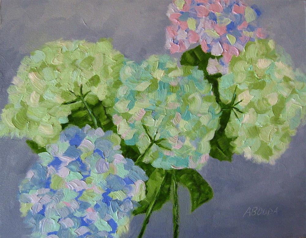 """July Hydrangeas"" original fine art by Sandy Abouda"