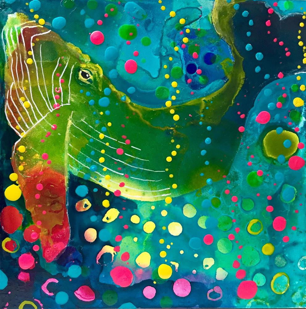"""#90 Happy Bubbles"" original fine art by Silke Powers"
