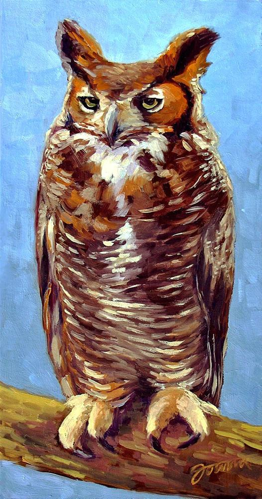 """Owl About Me"" original fine art by Joanna Bingham"