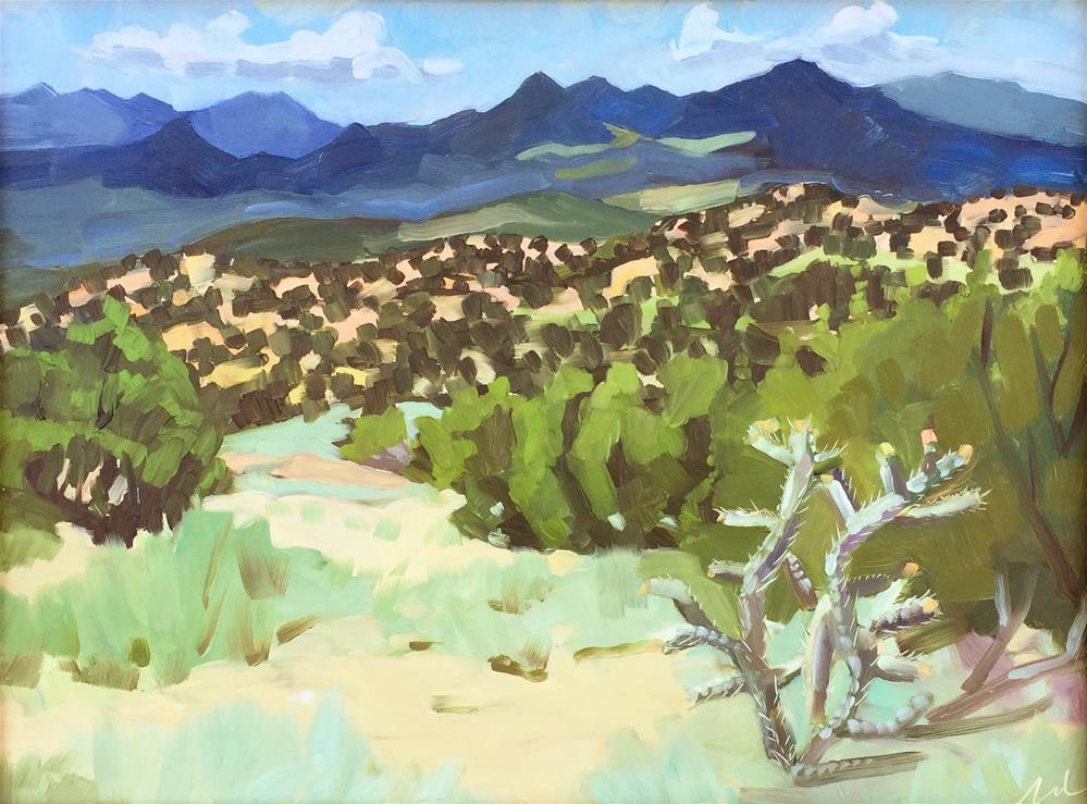 """Galisteo Basin Preserve"" original fine art by Jessie Dodington"